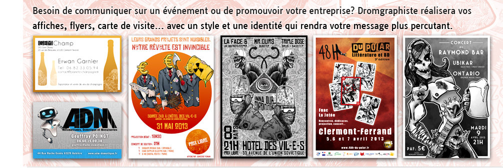 Creation affiche clermont ferrand